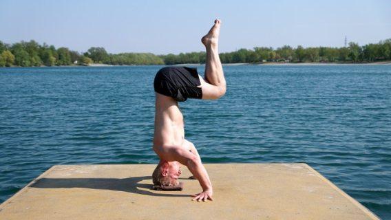 headstand movement yoga