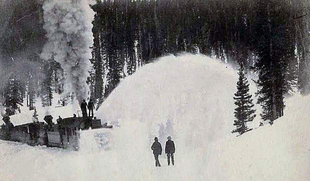 Courtesy Ed And Nancy Bathke Collection When The Snow Became Too Deep For Bucking Plows