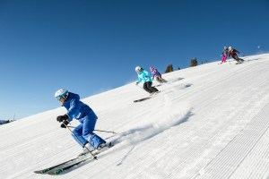 Vail instructor Jenn Metz leading a group of women. Photo: Jack Affleck, Vail Resorts