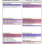 Training Calendar: Dec 5 - 11
