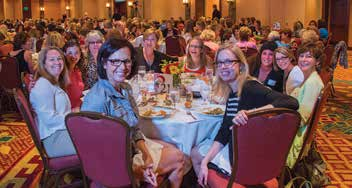 5. Women near and far attended the luncheon to educate and support those coping with breast cancer.