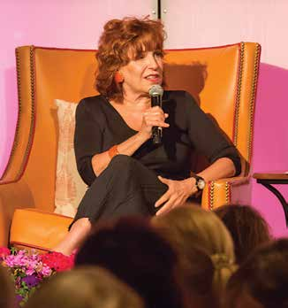 "2. This year's guest speaker was Joy Behar, a 16 year cast member and Emmy winner from ""The View""."