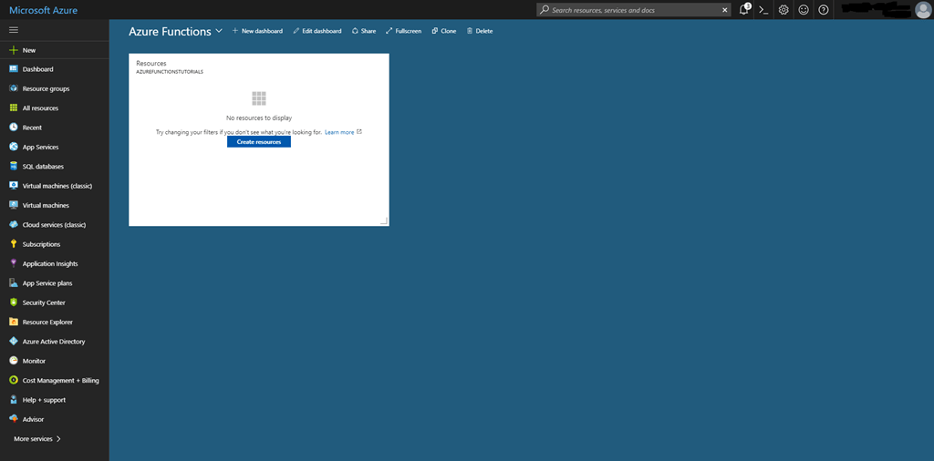 Azure Functions – Part 1: Getting Started – Vainolo's Blog