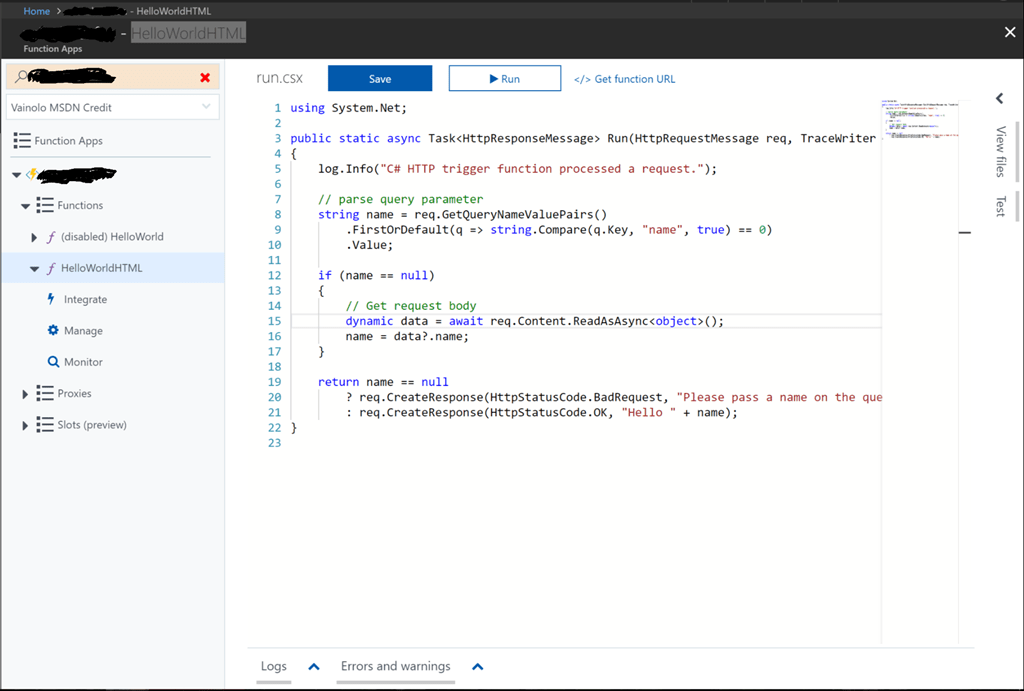 Azure Functions – Part 2: Serving HTML Pages with Azure Functions