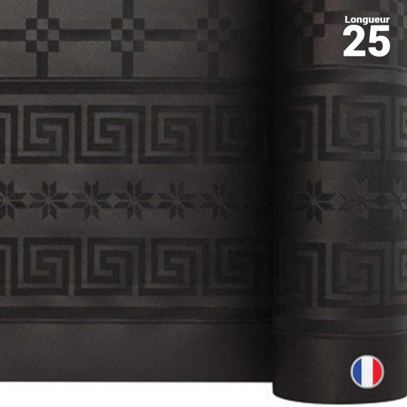 nappe en papier damasse noire 25 metres