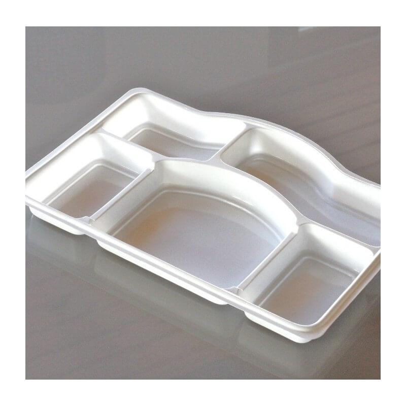 50 plateaux repas 5 cases recyclables reutilisables