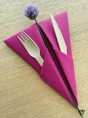 Pliage Serviette Pyramide Fuchsia Vaisselle Jetable Discount