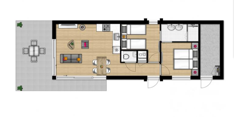 4-persoons vakantiehuis in Zeeland Water Village Roompot 08