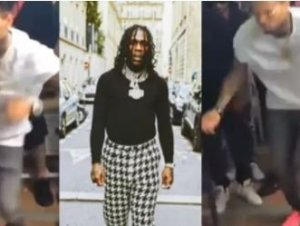 HUGE!! Chris Brown Thrills Fans As He Dances Energetically To Burna Boy's Song (Video)