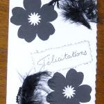 carte félicitation mariage noir et blanc