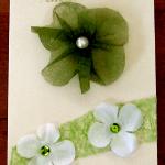 carte félicitation mariage blanc et vert