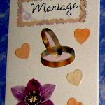 carte félicitations mariage anneau