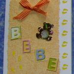 carte de félicitations naissance bébé