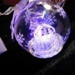 boule lumineuse violette gravure personnalisée