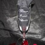 Gravure sur verre saint valentin