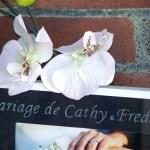 cadre mariage gravure sur verre personnalisée décoration orchidée