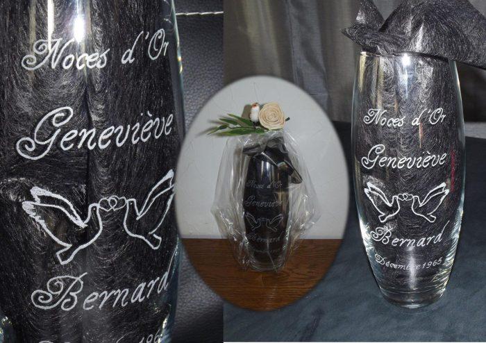 vase danniversaire pour noces dor