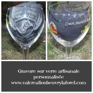 verre leffe 33 cl hasnon basket faisans logo gravure
