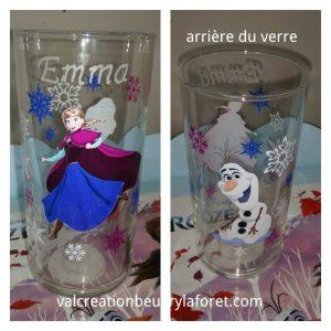 verre-reine-neiges-gravure-prenom-elsa-anna-olaf-personnalisable