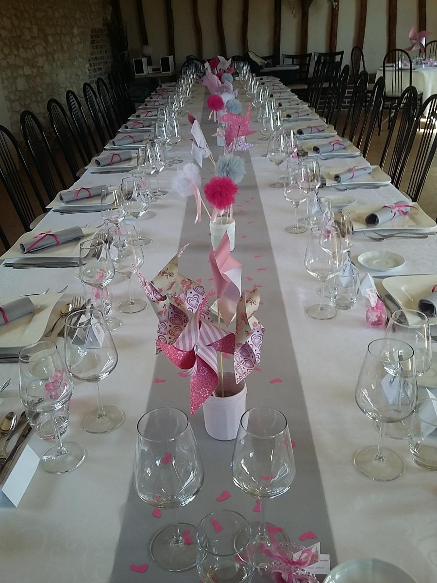 petite communion theme rose blanc et gris