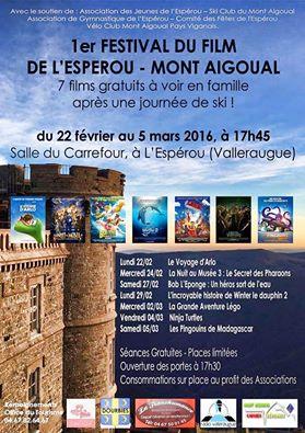 affiche festival du film de l'Espérou