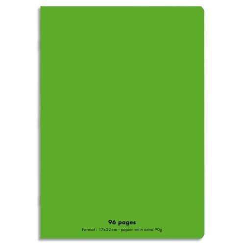 cahier couverture polypro verte 17x22 cm 96 pages cahier piqure 17x22 cm 96 pages vert couverture semi rigide polypro polypropylene val d eure
