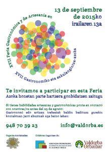 Caratel animando a la participación en el Día de Valdorba 2015