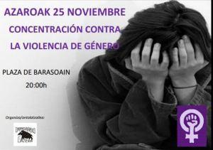 Concentración contra la violen
