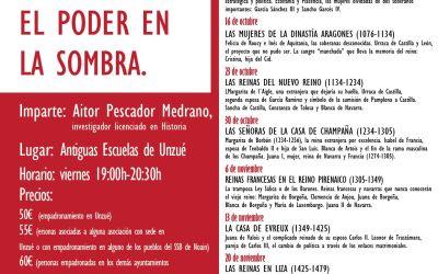 Quinto curso de historia en Unzué «Reinas de Navarra. El poder en la sombra».