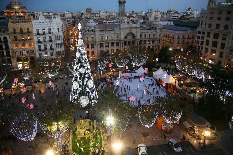 Pistas de hielo en Valencia Navidades 2017