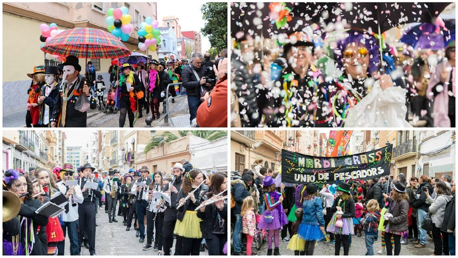 """El Mardi Grass vuelve al Cabanyal en una nueva edición del Carnaval """"Cabanyal-New Orleans"""""""