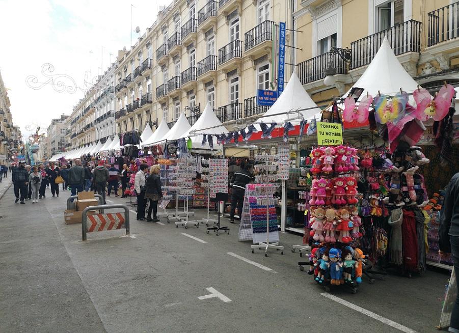 Mercados medievales, falleros y ferias de artesanía en Valencia en marzo de 2019