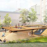 Así será el nuevo jardín del barrio de Orriols, una nueva zona verde en la plaza Santa Maria Mazzarello