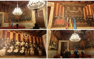 Las pinturas murales de la Sala Nova del Palau, una de las pinturas murales más grandes de España