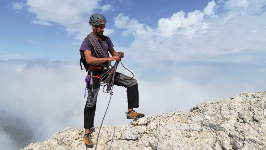 Guiding on Benicadell ridge.