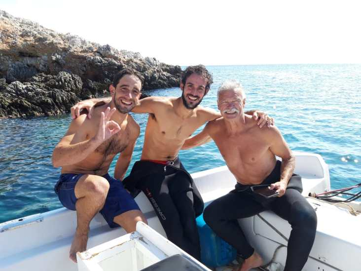 After a dive on a rest day in Kalymnos.