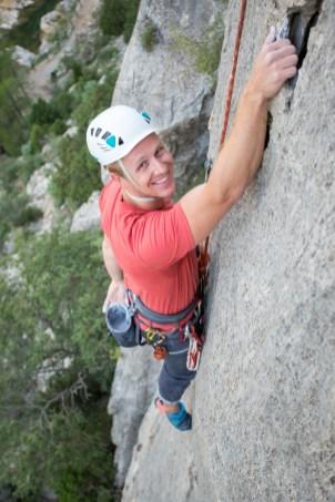 Robert escalando con nosotros en Jerica (Sep. 2018).