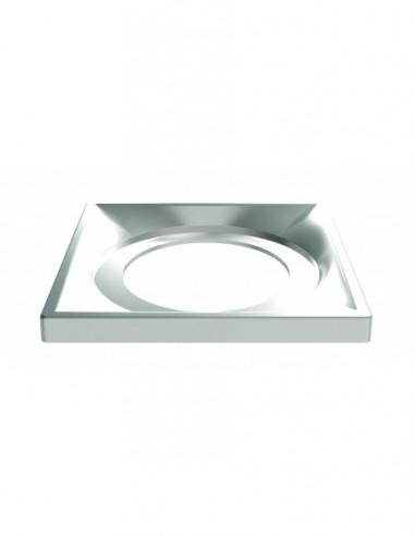 cadre a carreler pour bonde de douche a l italienne 142 x 143 mm chrome mat