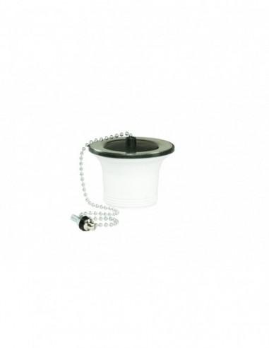 waste for sink d 50 mm chain stopper flange d 70 mm tightening 0 10 mm black