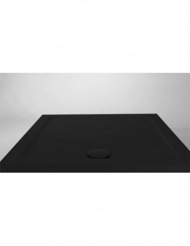 bonde extra plate minime pour receveur de douche d 90 mm capot rond recouvrant h 60 mm noir mat