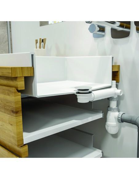 ensemble bonde de lavabo tbxp extra plat clapet fixe h 40 mm bi matiere inox