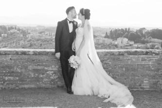 sposi al muretto della villa medicea