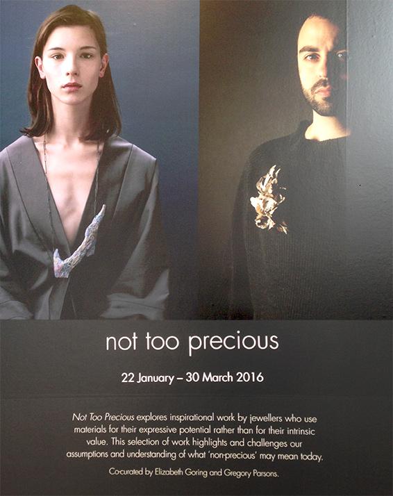 Exposición joyas NOT TOO PRECIOUS. Blog Valentina Falchi