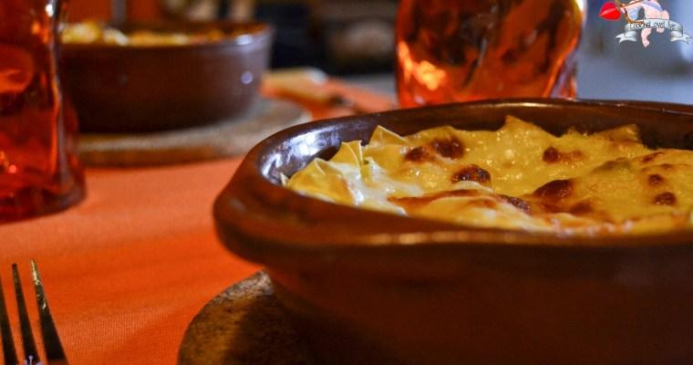 Lasagne ai 4 formaggi in terracotta