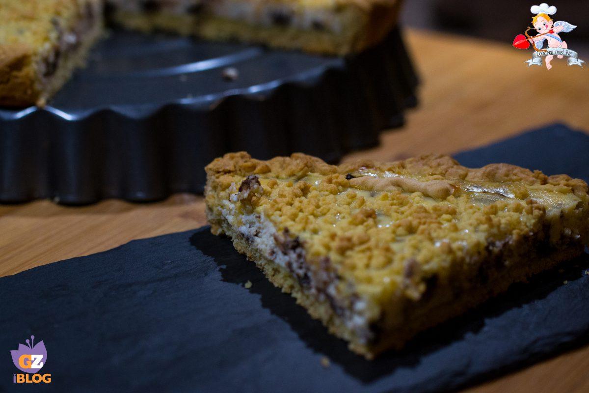 Crostata ricotta e cioccolato fondente