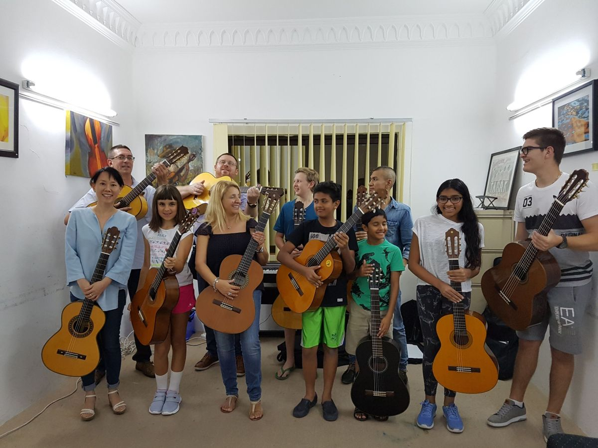 Danube Classical Guitar Orchestra preparing  for TCL Performance Certificate