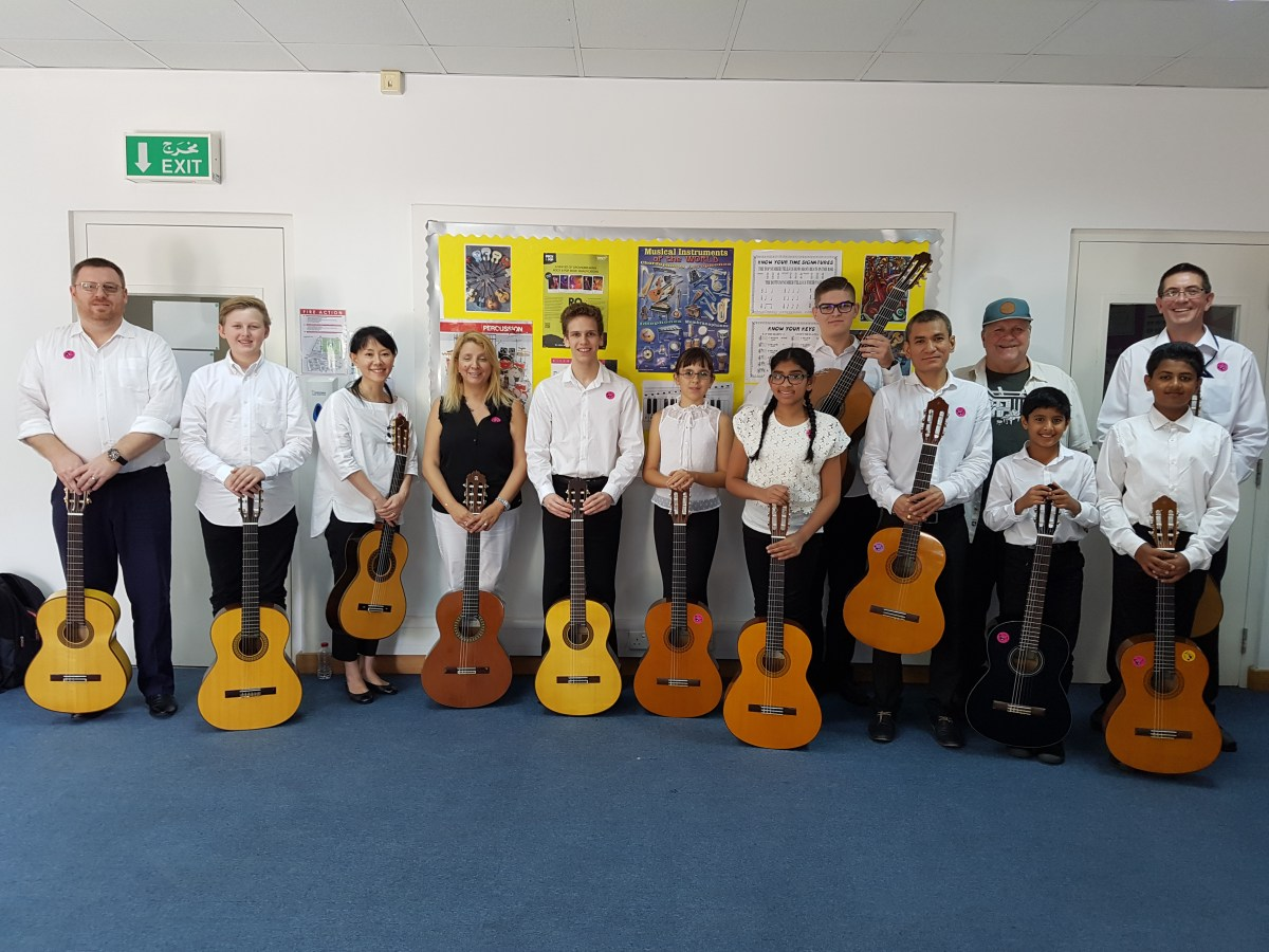 Danube Classical Guitar Orchestra, passed Trinity College London exam with distinction.
