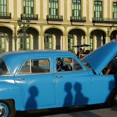 La vieille Havane, centre ville, voiture hantée
