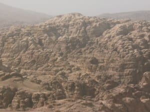 Landscape on way to Little Petra