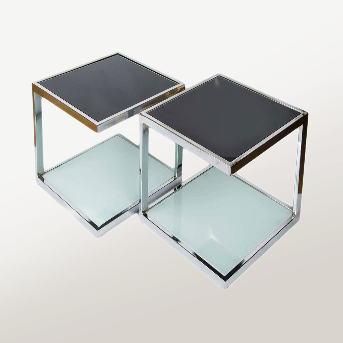 Two Pairs Of 1950s Chrome Side Tables Valerie Wade